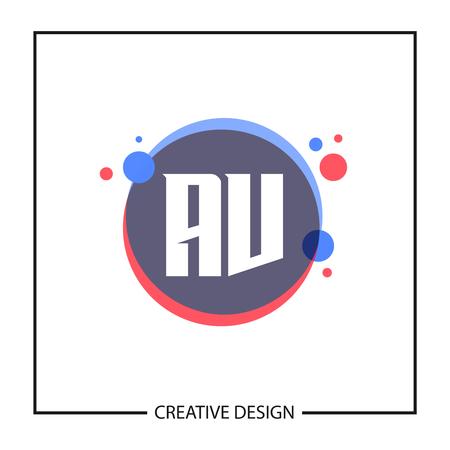 Initial Letter AV Logo Template Design Vector Illustration