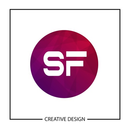 Initial Letter SF Logo Template Design Vector Illustration Ilustração