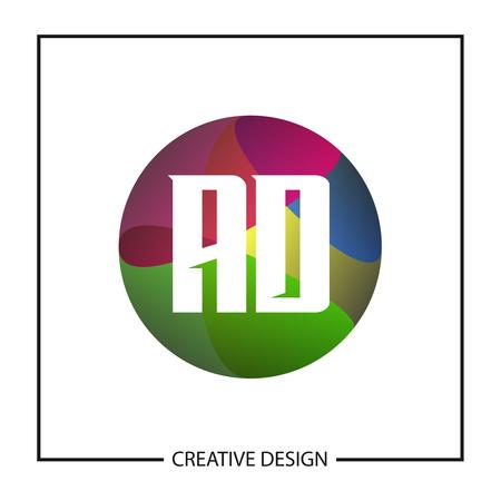 Initial Letter AD Logo Template Design Vector Illustration