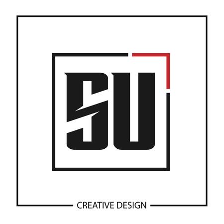 Initial Letter SU Logo Template Design Vector Illustration Ilustração