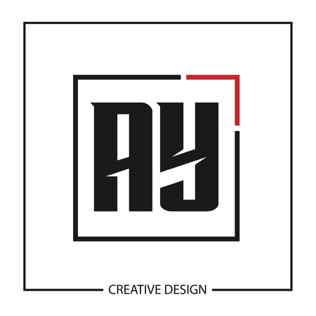 Initial Letter AY Logo Template Design Vector Illustration Stock Vector - 113111942