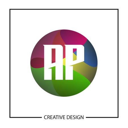 Initial Letter AP Logo Template Design Vector Illustration Stock Illustratie