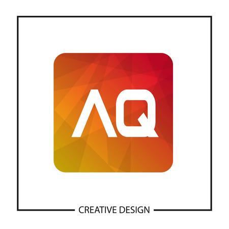 Initial Letter AQ Logo Template Design Vector Illustration