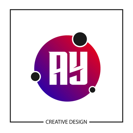 Initial Letter AY Logo Template Design Vector Illustration Stock Vector - 113111236