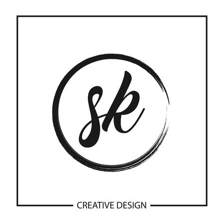 Initial Letter SK Logo Template Design Vector Illustration