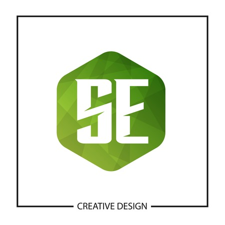 Initial Letter SE Logo Template Design Vector Illustration Stock Illustratie