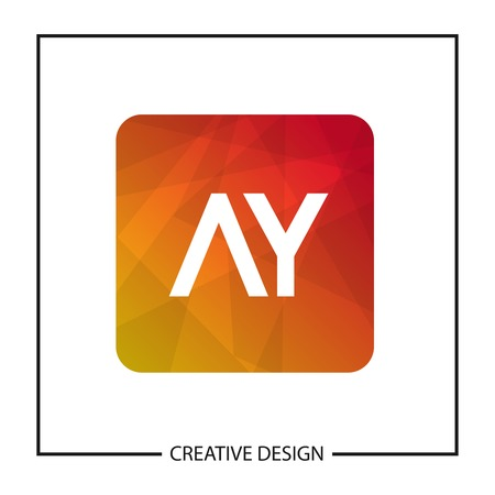 Initial Letter AY Logo Template Design Vector Illustration Stock Vector - 113110415