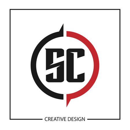 Initial Letter SC Logo Template Design Vector Illustration Logó