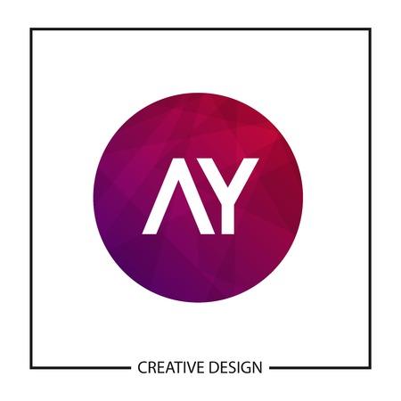 Initial Letter AY Logo Template Design Vector Illustration Illustration
