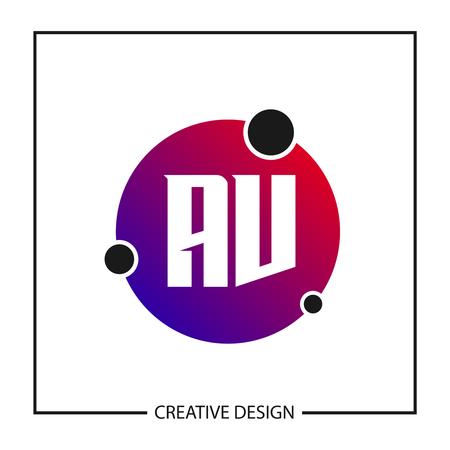 Initial Letter AV Logo Template Design Vector Illustration Logo