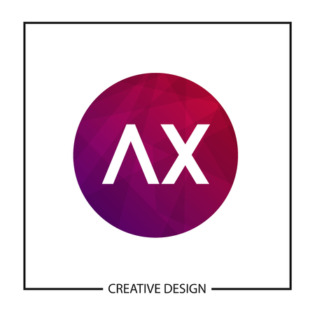 Initial Letter AX Logo Template Design Vector Illustration