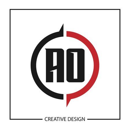 Initial Letter AO Logo Template Design Vector Illustration Logo