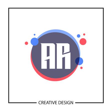 Initial Letter AR Logo Template Design Vector Illustration