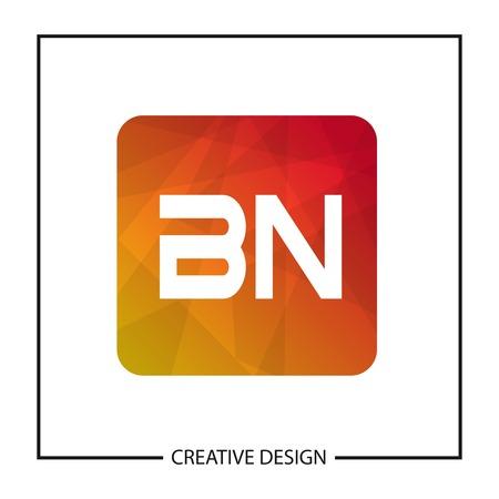 Initial Letter BN Logo Template Design Vector Illustration