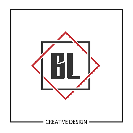 Initial Letter BL Logo Template Design Vector Illustration Imagens - 113864724