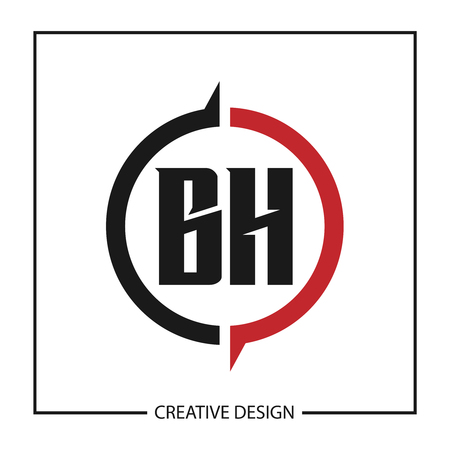 Initial Letter BH Logo Template Design Vector Illustration
