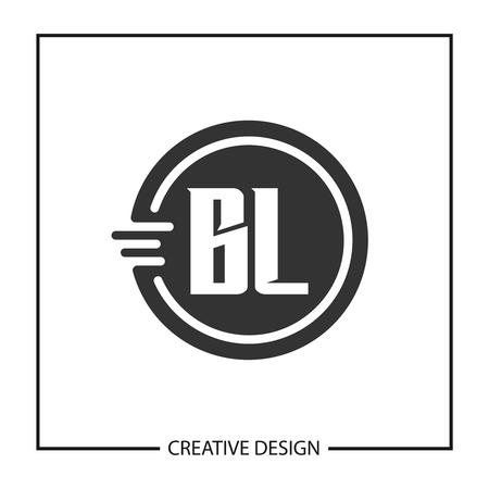 Initial Letter BL Logo Template Design Vector Illustration Logó