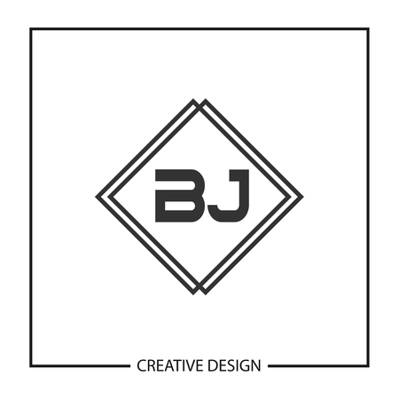 Initial Letter BJ Logo Template Design Vector Illustration