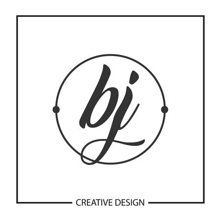 Initial Letter BJ Logo Template Design Vector Illustration Logó