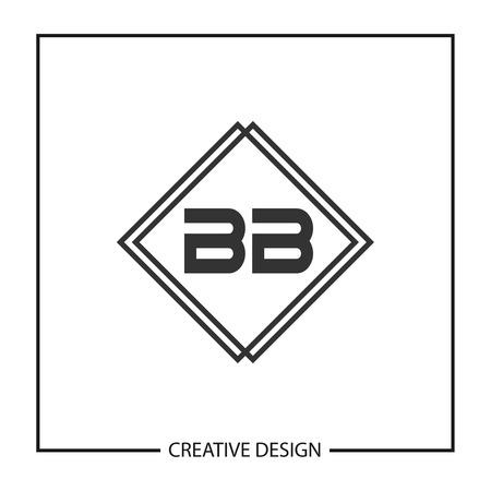 Initial Letter BB Logo Template Design Vector Illustration Ilustrace
