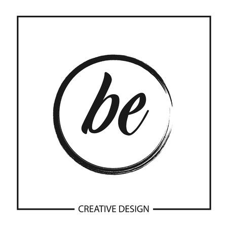 Initial Letter BE Logo Template Design Vector Illustration