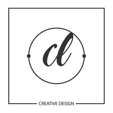 Initial Letter CL Logo Template Design Vector Illustration