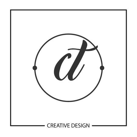 Initial Letter CT Logo Template Design Vector Illustration  イラスト・ベクター素材