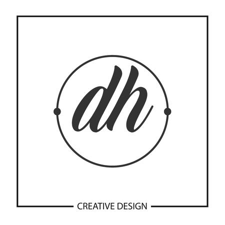 Initial Letter DH Logo Template Design Vector Illustration Logó
