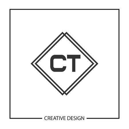 Initial Letter CT Logo Template Design Vector Illustration Иллюстрация