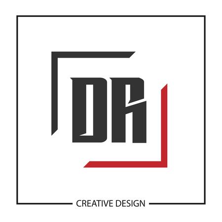 Initial Letter DR Logo Template Design Vector Illustration