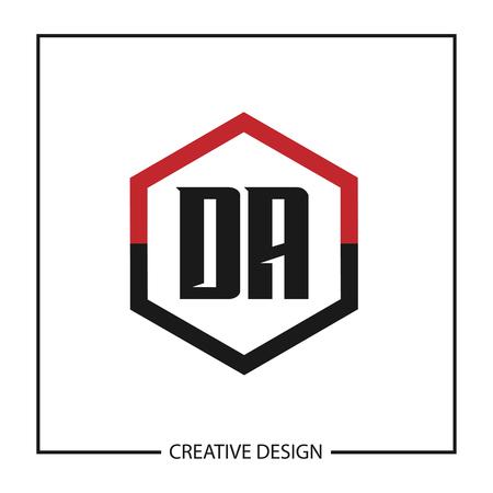Initial Letter DA Logo Template Design Vector Illustration