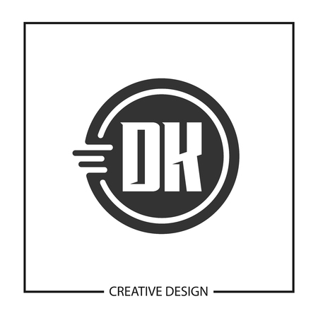 Initial Letter DK Logo Template Design Vector Illustration