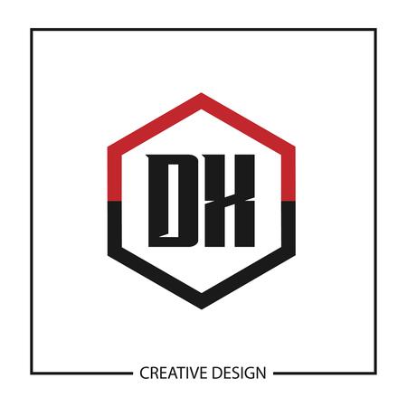 Initial Letter DX Logo Template Design Vector Illustration