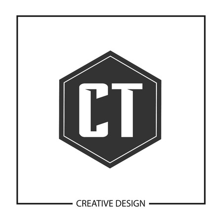 Initial Letter CT Logo Template Design Vector Illustration  イラスト・ベクター素材