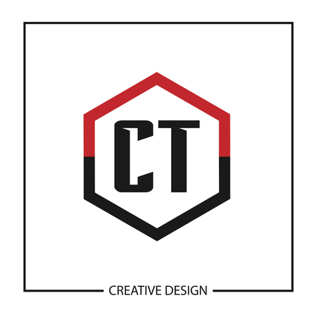 Initial Letter CT Logo Template Design Vector Illustration Çizim