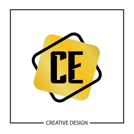 Initial Letter CE Logo Template Design Vector Illustration