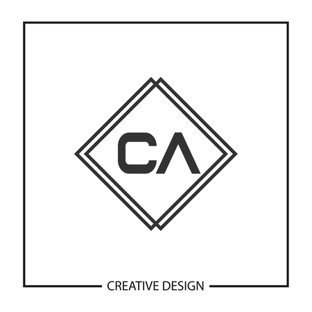 Initial Letter CA Logo Template Design Vector Illustration