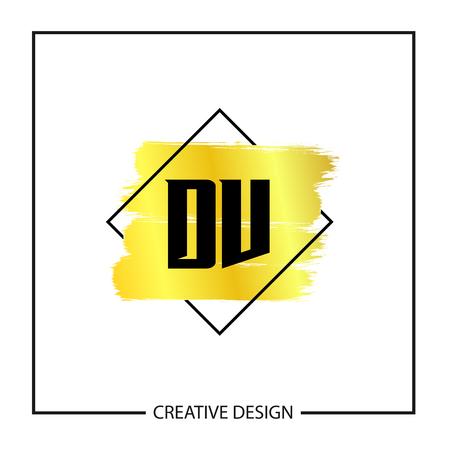 Initial Letter DV Logo Template Design Vector Illustration