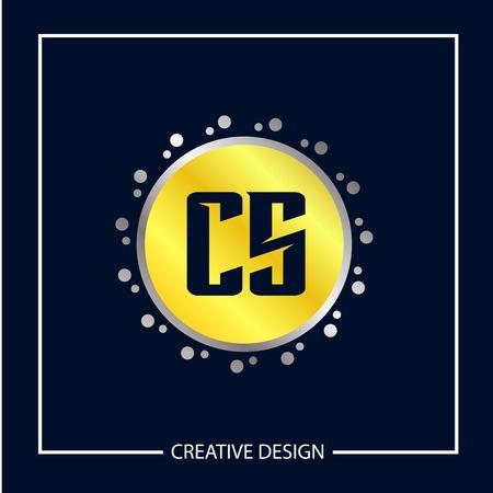Initial Letter CS Logo Template Design Vector Illustration
