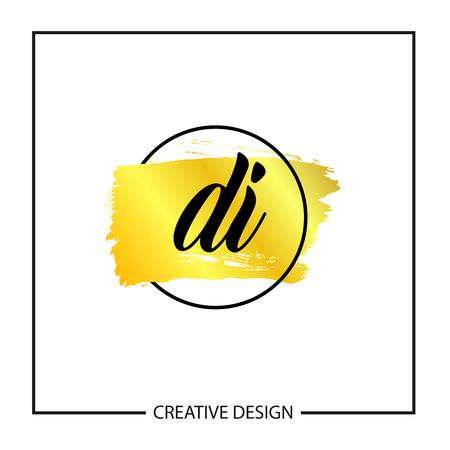 Initial Letter DI Logo Template Design Vector Illustration Illusztráció