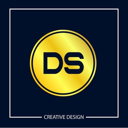 Initial Letter DS Logo Template Design Vector Illustration Illustration