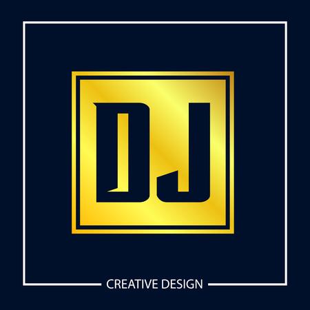Initial Letter DJ Logo Template Design Vector Illustration