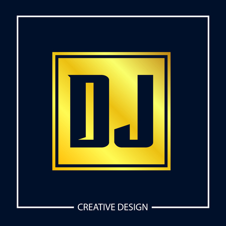 Initial Letter DJ Logo Template Design Vector Illustration