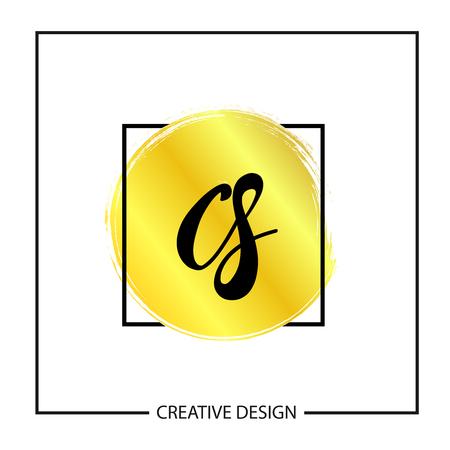Initial Letter CS Logo Template Design Vector Illustration Logó
