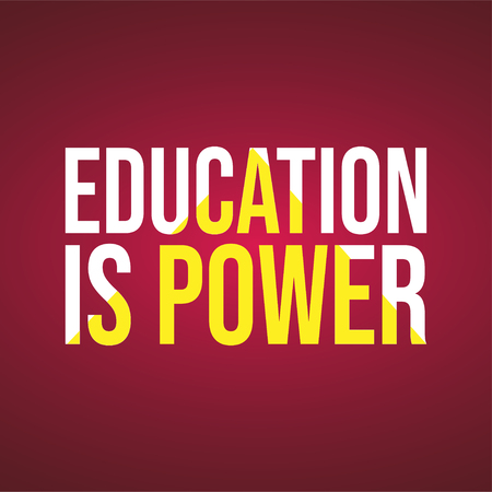 Education is power. Education quote with modern background vector
