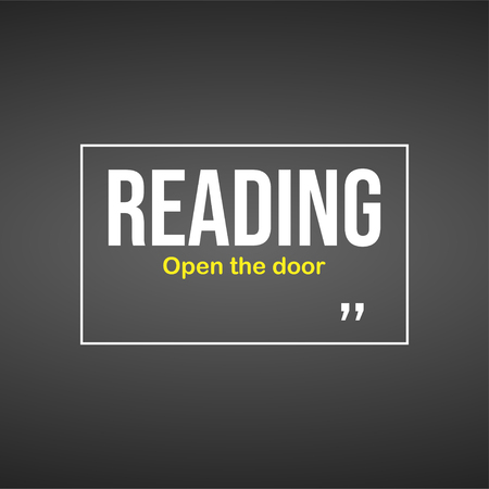 Reading open the doors. Education quote with modern background illustration