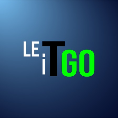 let it go. Life quote with modern background vector illustration