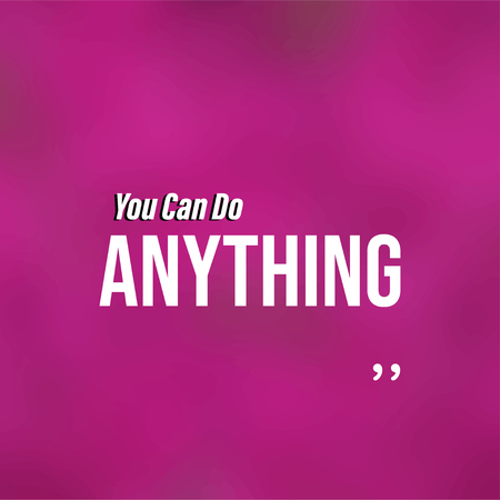 You can do anything. Life quote with modern background vector illustration 向量圖像