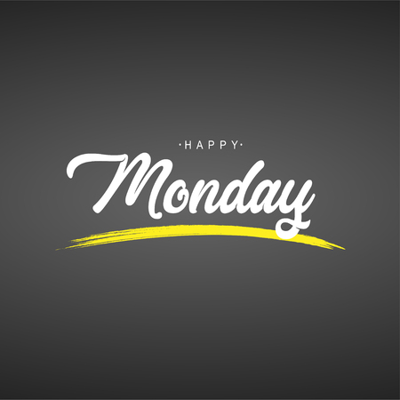 happy Monday. Life quote with modern background vector illustration