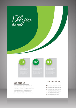 business event: Business Flyer or Brochure vector template